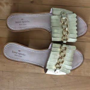 Kate Spade gold shoes
